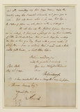 Letter from Gainsborough to Thomas Harvey at Norwich (verso)