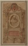 Design for a wall monument to a cardinal