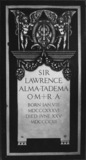 St Paul's Cathedral;The Crypt;Floor slab commemorating Sir Lawrence Alma Tadema