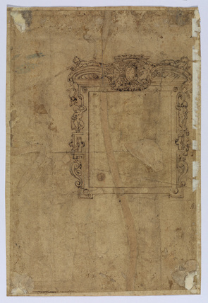 Design for a frame with the Medici arms (verso)