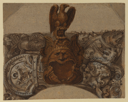 Decorative panel using armour