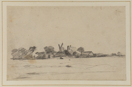 Landscape with houses and a windmill
