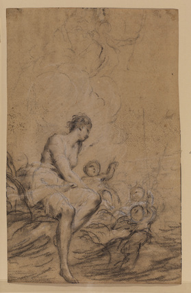Study of a female allegorical figures