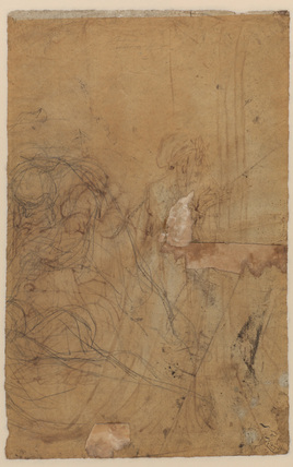 Sketch for a composition of two figures (verso)