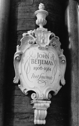 Westminster Abbey;Abbey Church;Monument to John Betjeman