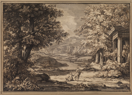 Landscape with ruin and figures