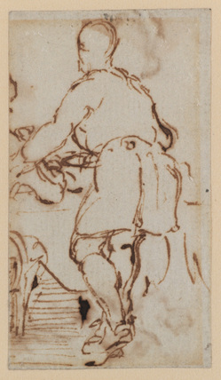 Sketch for 'Blind Man's Buff' (Buckingham Palace) (recto)