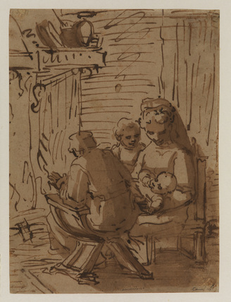 Holy Family at the fireside