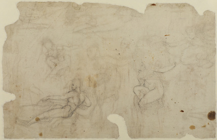Sheet of figure studies (verso)
