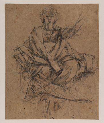 Female draped figure (recto)