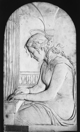 Plaster relief of Elisabeth von Herzogenburg as Saint Cecilia