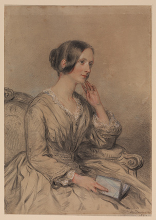 Three-quarter length portrait of a lady - Mrs. J. de Bermier (?)