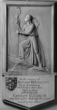 St Mary Abbots;Monument to Richard Westmacott the Younger