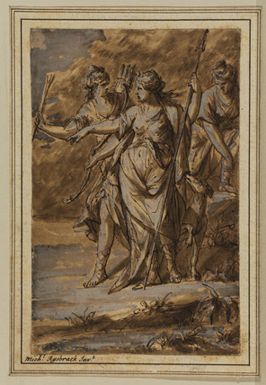 Diana and two attendants