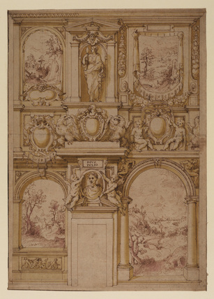 Design for the decoration of a wall in the Palazzo Mattei di Giove, Rome