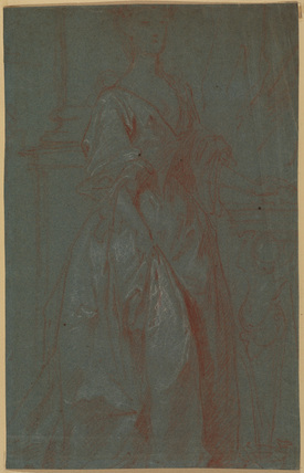 Study for a portrait of a lady (recto)