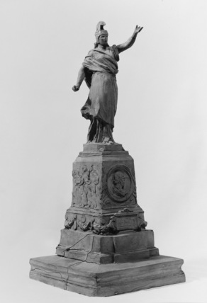 Maquette for an unidentified monument with statue of Italy