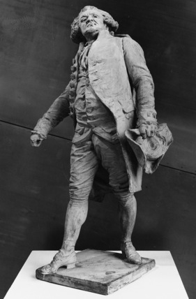 Plaster model for a statue of Mirabeau