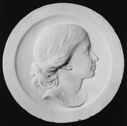 Portrait medallion of Sarah James