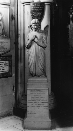 St Mary Abbots;Monument to Alfred Duke of Edinburgh and Leopold Duke of Albany