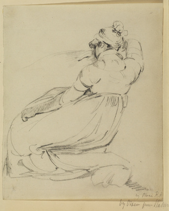 Young woman seated on a couch