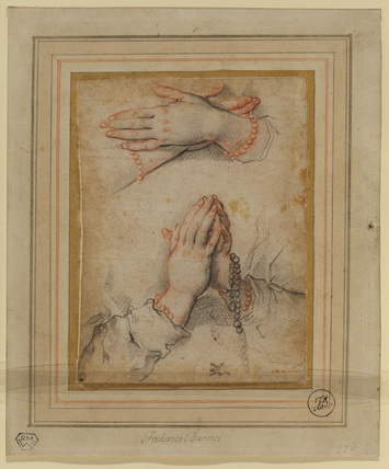 Two studies of female hands