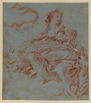 Goddess seated on clouds