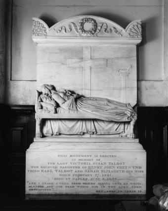 Saint Mary's Church;Monument to Lady Victoria Susan Talbot