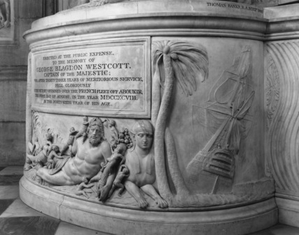 St Paul's Cathedral;Monument to Captain George Blagdon Westcott