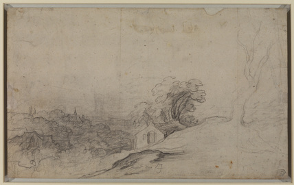 Landscape with a village (verso)