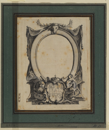 Design for a titlepage with coat-of-arms by German School