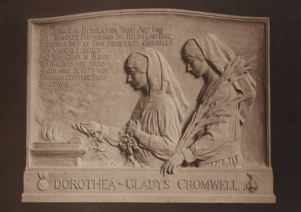 Memorial tablet to the Cromwell twins Dorothea and Gladys