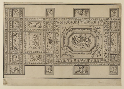 Design for a ceiling in the Villa Pamphili, Rome