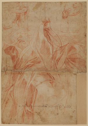 Studies of figures of apostles in the cupola of the cathedral at Parma