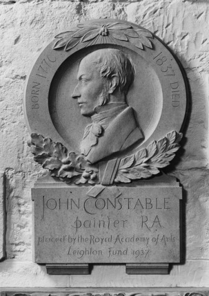 St Paul's Cathedral;The Crypt;Memorial to John Constable