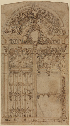 Design for a grille (possibly for  the Cappella del Tesoro in the Cathedral at Naples)