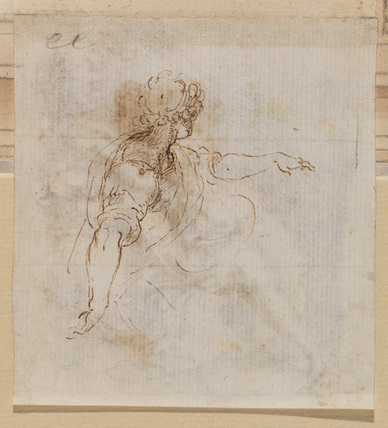 Seated figure, with outstretched arm (verso)