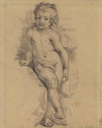 Copy of the child from Rubens' 'La Vierge au Perroquet'