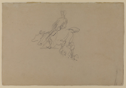 Study of a horse and rider (verso)