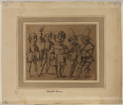 Group of five singers