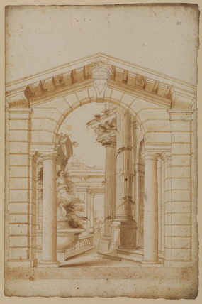 Architectural capriccio - design for a stage set (?)