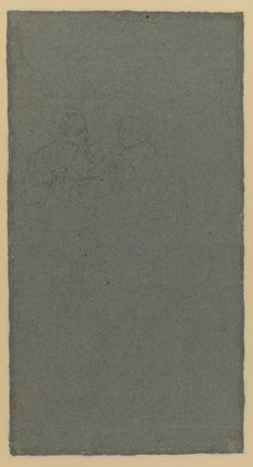 Study for two figures and a child (verso)