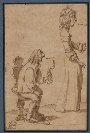 Two caricature figures (verso)