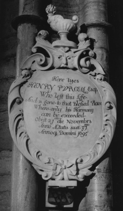 Westminster Abbey;Abbey Church;Monument to Henry Purcell