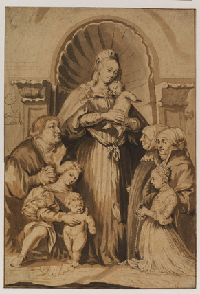 Copy after Hans Holbein the younger's 'Madonna of the Burgomaster Meyer Family'