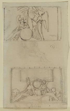 Three studies for relief sculpture