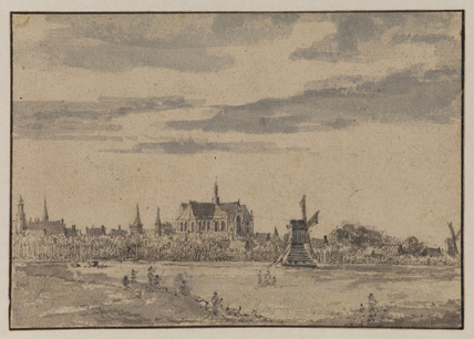 View of Alkmaar with the cathedral
