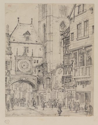 Street with the Gros Horloge, Rouen