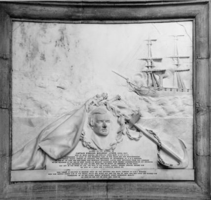 St Paul's Cathedral;Memorial to Captain Edmund Moubray Lyons