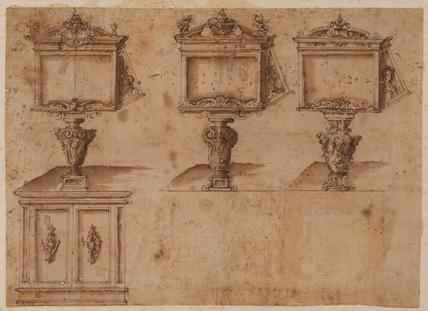 Three designs for a lectern